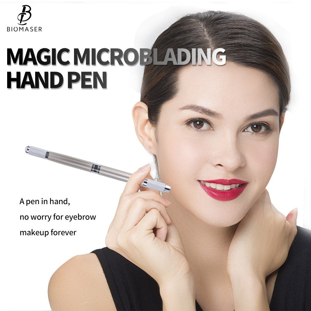 Biomaser Microblading Pen Manual Microblade Needle Holder Caneta Tebori Microblading Eyebrow Tattoo Pen High Quality цена