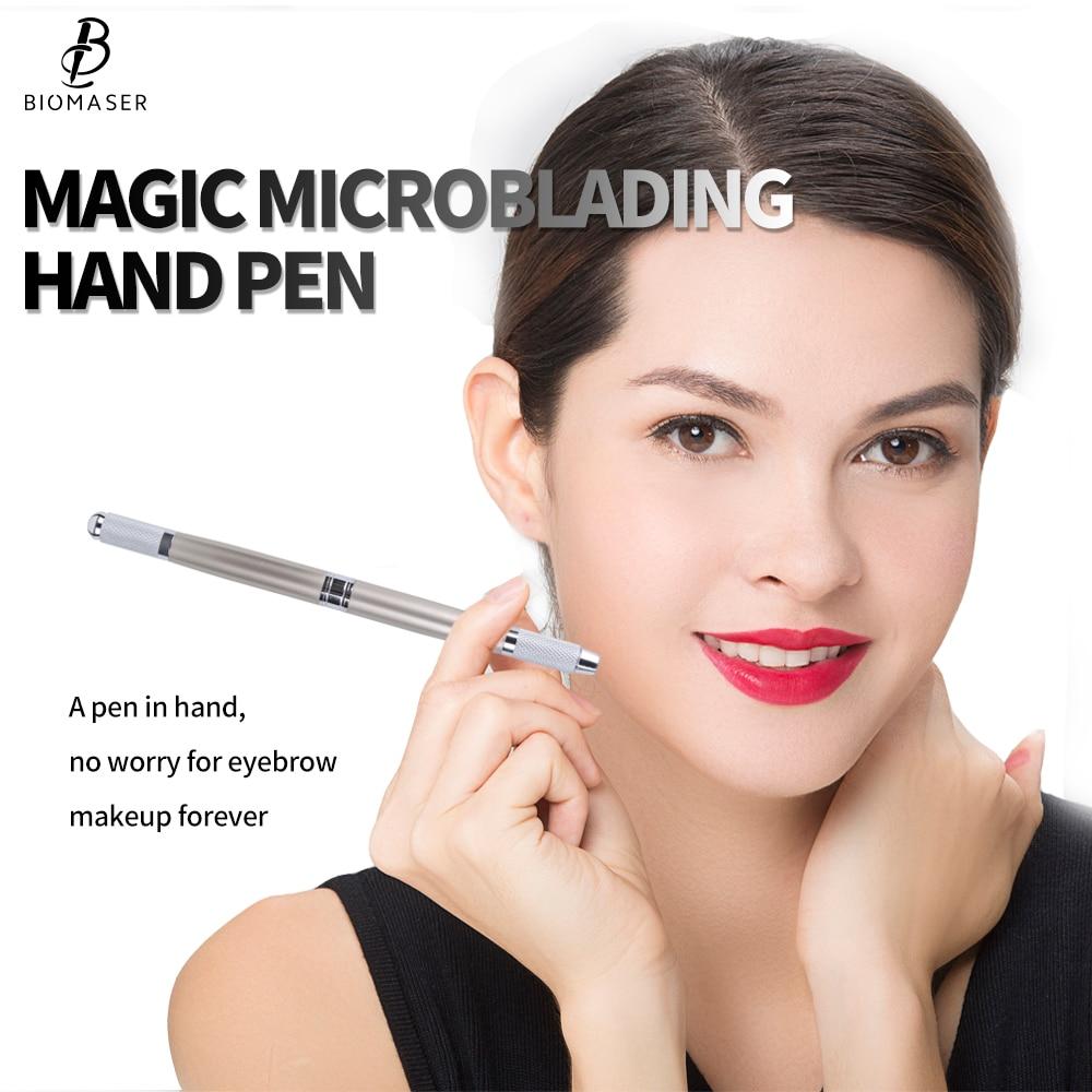 Biomaser Microblading Pen Manual Microblade Needle Holder Caneta Tebori Microblading Eyebrow Tattoo Pen High Quality