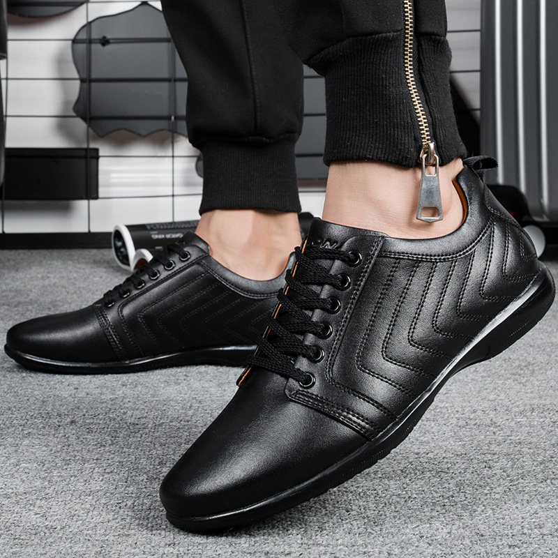 Image 4 - BONA New Classics Style Men Casual Shoes Lace Up Breathable Men  Shoes Light Soft Male Flat Shoes Comfortable Fast Free Shippingshoes  comfortshoe lacesshoe laces free shipping