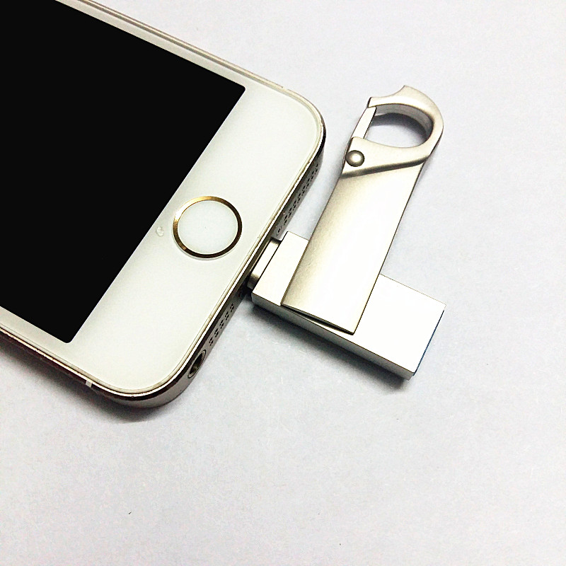 Cukup i-Flash Drive 32 GB 64 GB Micro Usb Pen Drive Lightning / Otg Usb Flash Drive Untuk iPhone 7/6 Plus / ipad / iphone 8 / x