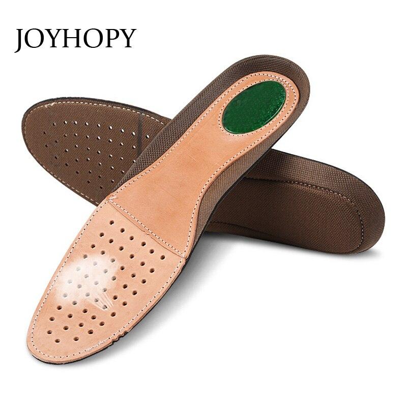 JOYHOPY Premium Breathable Genuine Leather Men Cowskin Shock Absorption Shoe Insole Sweat Absorption Shoes Insoles For Man SC005 gel insole leather insoles sweat