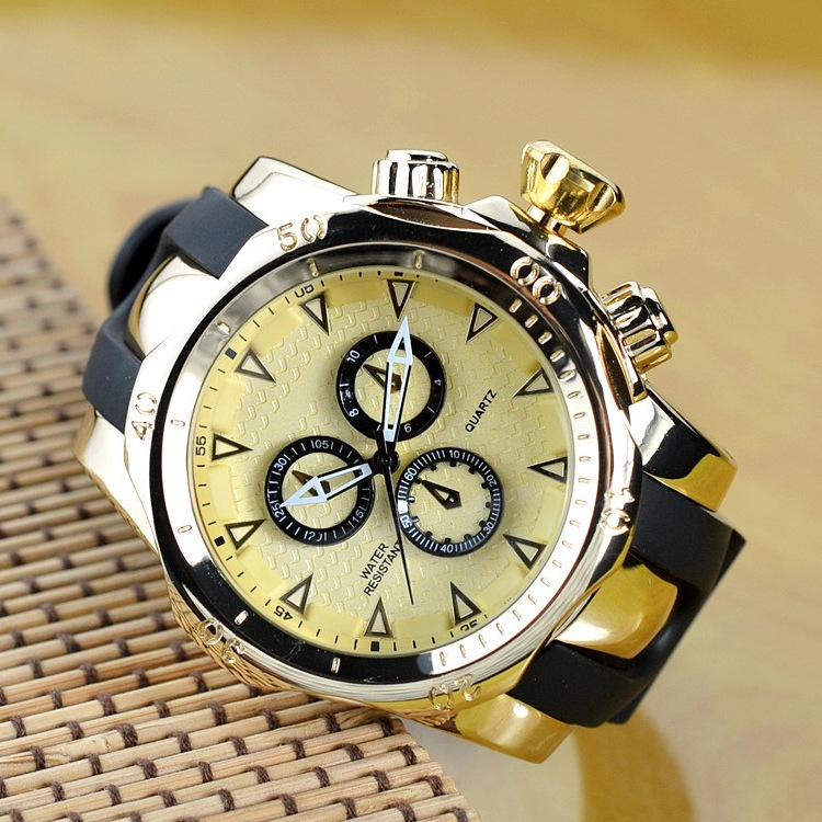 Famous Brand Big Dial Watch for Men Quartz Big Face