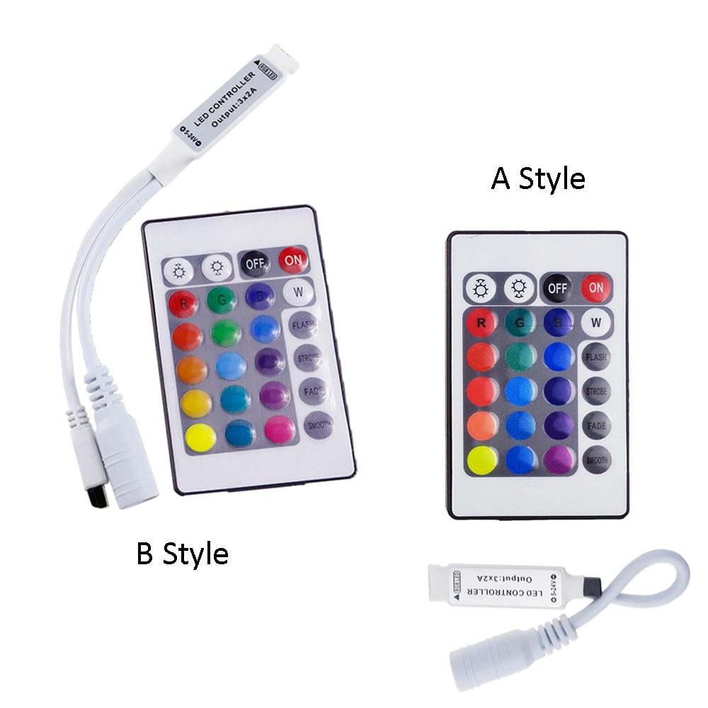 24 Keys RGB LED Controller DC 12V Mini IR Remote Control For 5630/3528/5050 RGB LED Strips A/B Style JQ24 Keys RGB LED Controller DC 12V Mini IR Remote Control For 5630/3528/5050 RGB LED Strips A/B Style JQ