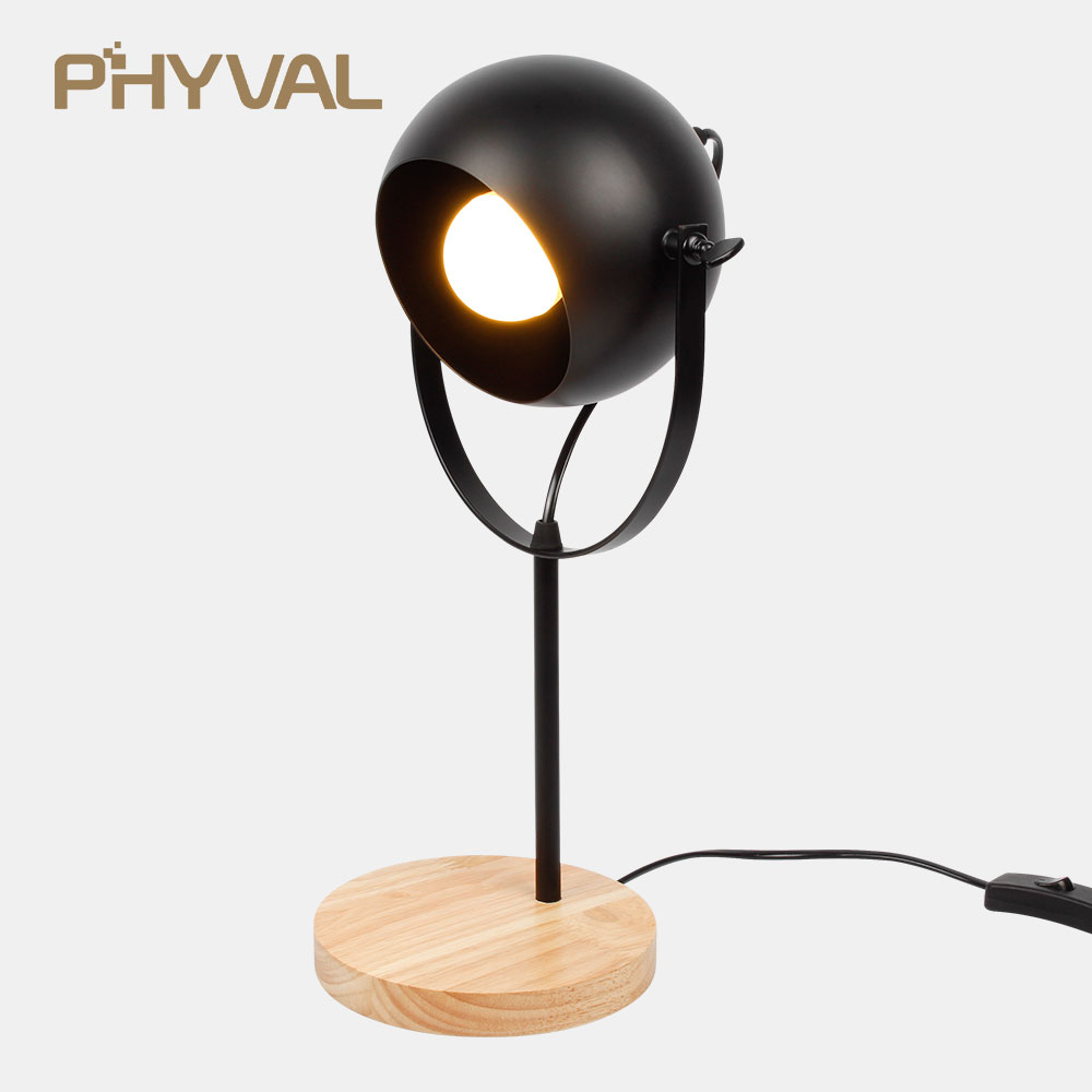 Led Table Lamp bedside Lamp Dimming Table Lamps for bedroom Nordic wood Desk lamps Reading table light retro night light E27 new arrival t10 led panel desk table light lamp 7w 12v desk lamps reading light sliding touch dimmer desk night light lamps hr