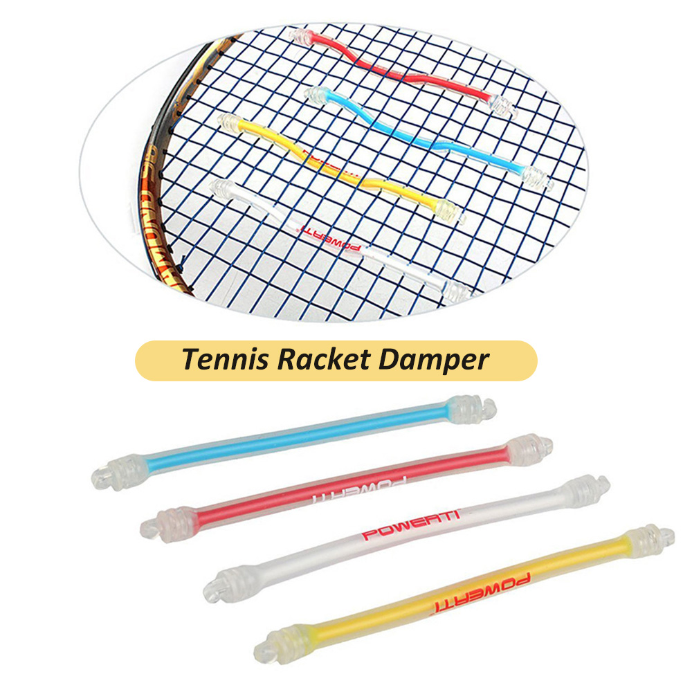 1Pcs Tennis Racket Damper Shock Absorber Silicone Tennis Bat Vibration Absorbing Shock Reducing Anti-Slip Strips
