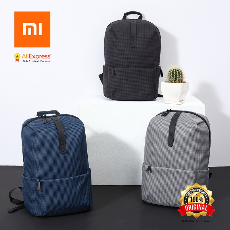 Original XiaomI Mi Backpack College Casual Shoulders Bag Female Leisure Rucksack Daypack School Bag Duffel Bag 15.6 Inch Laptop xiaomi 90fun urban city simple backpack 14inch laptop waterproof mi rucksack daypack school bag learning portable backpacks
