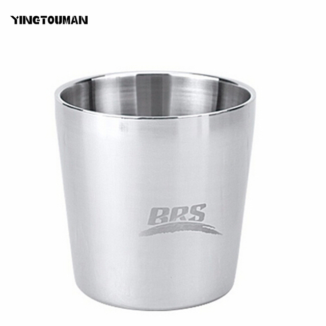 BRS-TS08/TS09 SUS 304 Stainless Steel Double Layer Heat Protection Water Cup for Camping Hiking Traveling Outdoor Camping Cup