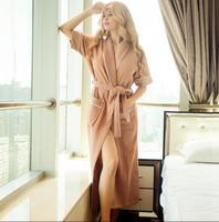 Summer Short Sleeve Terry Bathrobe Cotton Pyjamas Women Fashion Kimono Robe