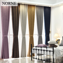 NORNE Solid Heavy Blackout Curtain 85% Shading Rate,Thermal Insulated Privacy Assured Curtains Window for Bedroom Living Room