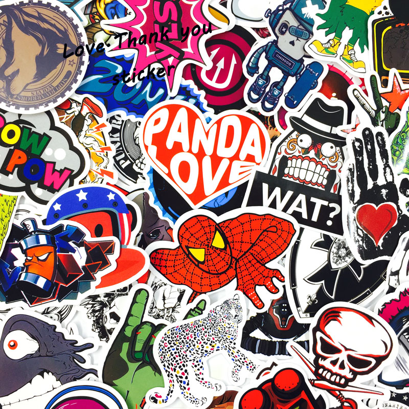 Image 4 - 1000 PCS Mix Style Stickers Fridge Skateboard Toys Cool JDM Doodle Decals Home Decor Luggage Car Styling Bike Laptop DIY Sticker-in Stickers from Toys & Hobbies