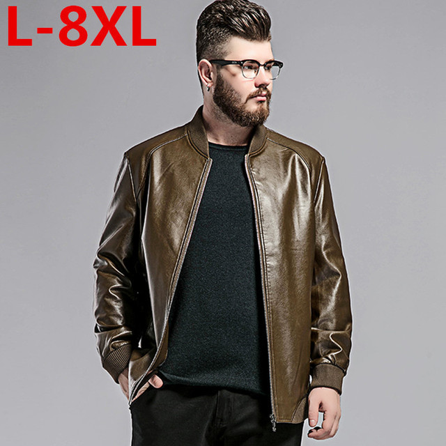 big size 8XL 7XL 6XL 5X new brand men leather jacket top quality male  autumn winter leather jacket male fashion leather coat men e809a8bcbe13