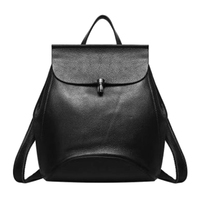 Quality Faux Suede Leather Backpack Women Versatile Zipper Solid Color Backpack Shoulder Bag