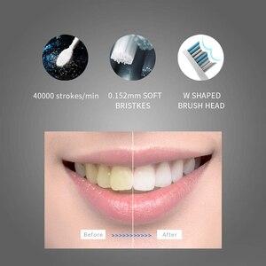Image 4 - Seago סוניק חשמלי מברשת שיניים SG 551 עם להחליף מברשת ראשי 4 נקי מצבי אחד מפתח פעולה סוניק רטט עמיד למים מברשת