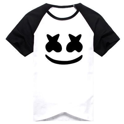New Marshmello T-shirt Men t-shirt DJ Summer Short-sleeve Cotton Tees Tops