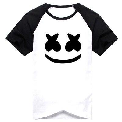 nova marshmello t shirt dos homens t shirt dj verão curto luva de