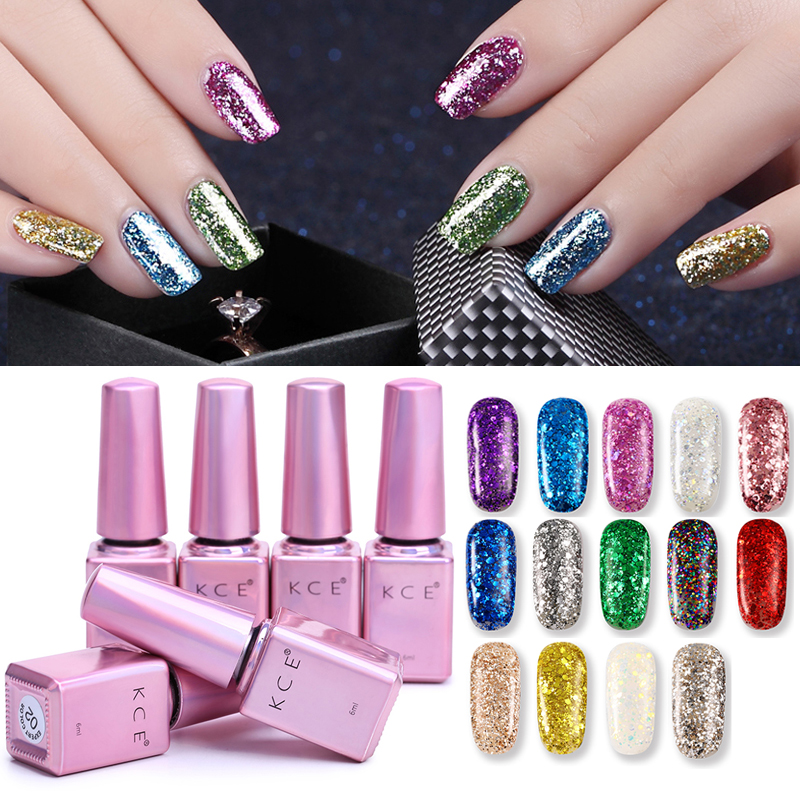 Purple Gel Nail Polish: 14 Colors KCE Brand Non Toxic Red Blue Purple Color Nail