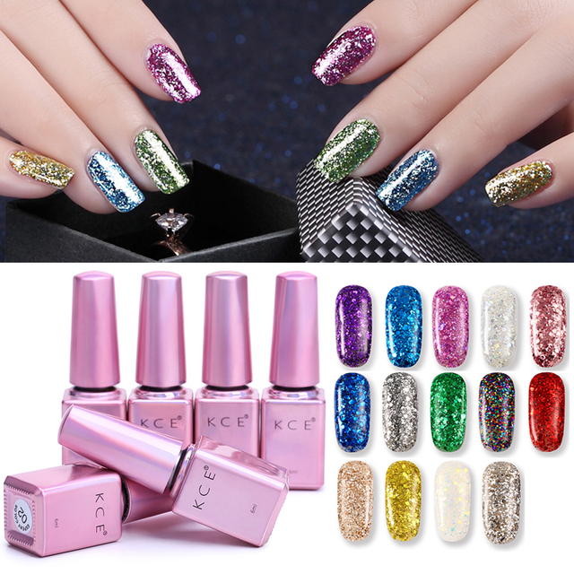 14 Colors KCE Brand Non toxic Red Blue Purple Color Nail Polish Long ...