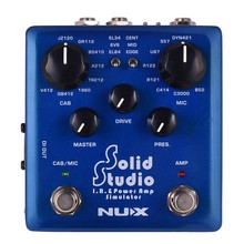 NUX Solid Studio IR Power Amp Simulator Guitar Multi Effects Pedal Dual Footswitch Built-in 8 Cabinet 8 Microphone True Bypass mxr m133 micro amp gain boost pedal with level control led indicator and footswitch