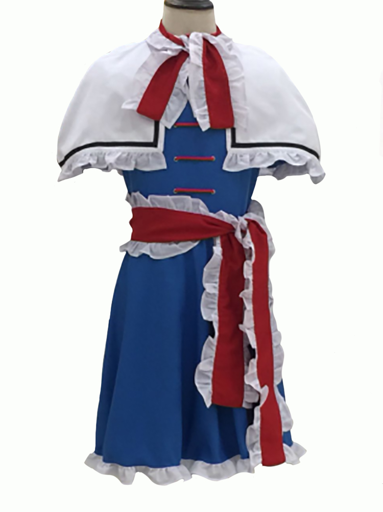 Touhou Project Alice Margatroid Dress Shawl Cosplay Costume