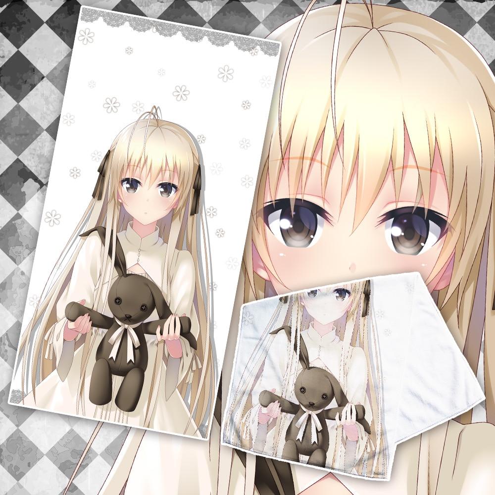 Costume Props Frugal Anime Jk Kasugano Sora Cosplay Beach Face Bath Towel Cartoon Girl In Solitude Where We Are Least Alone Facecloth Washcloth