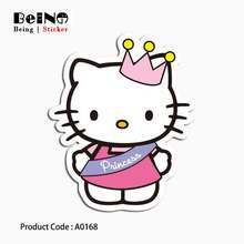 HELLO KITTY sticker cartoon anime cute waterproof suitcase laptop guitar luggage skateboard bicycle toy lovely A0168 stickers(China)
