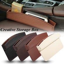 PU Leather Car Seat Crevice Gap Storage font b Box b font Pocket Organizer Phone Holder