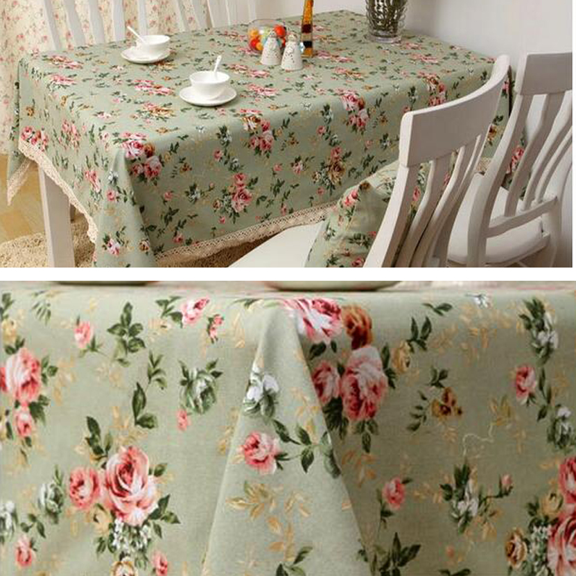 Superieur European Retro Flower Spring Tablecloth Dining Table Cover Kitchen Home  Textile Canvas Cotton Flower Free Shipping In Tablecloths From Home U0026  Garden On ...