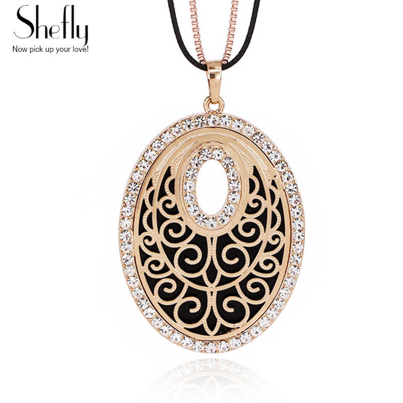 Detail Feedback Questions about New Gold Color Black Circle Pendant Charm  Necklace Women Leather Box Chain Flower Devil Eye Necklaces   Pendants  XL05539 on ... 0aedfbd48