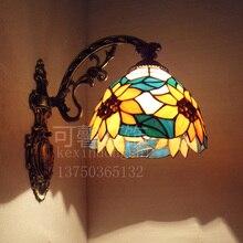 Современный дом украшения деревенском синий подсолнечное бра зеркало в ванной свет спальня свет проходу огни бесплатная доставка