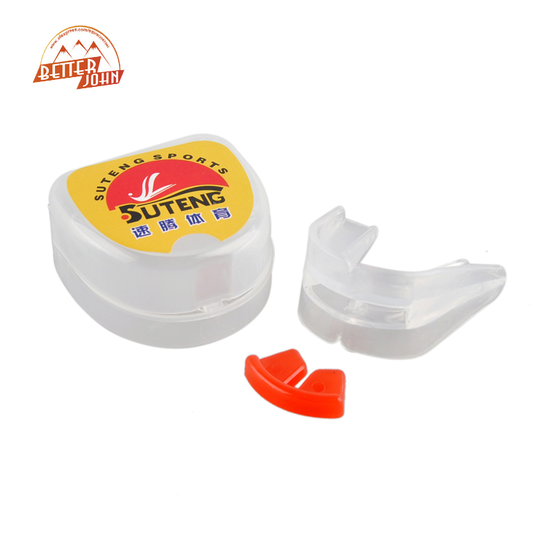Newest Outdoor Sports Basketball Silicone Double-sided Braces Boxing Mouthguard Grinding Teeth Guard