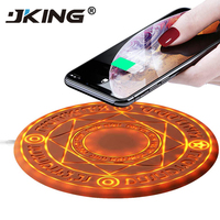 JKING Universal Magic Circle Wireless Charger Qi Wireless Fast Quick Charging Pad for iPhone X XS 8 Samsung Xiaomi Huawei Honor