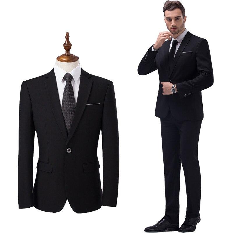 Männer High-end-business Slim Fit Blazer/männlichen Hochzeit Kleid/mann Der Casual Zwei-stück Anzug Größe S-5xl Xmy3dwx jacken + Hosen