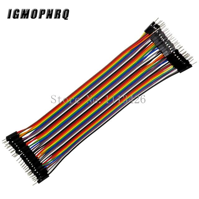 40 pcs/lot mâle à mâle dupont ligne 40 pièces dupont câble cavalier fil dupont ligne 2.54MM 20cm