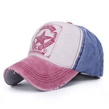 Hat tide men and women couple hats five-star alphabet baseball cap fashion spring outdoor cap fashion women s rivets and sewing thread embellished baseball cap