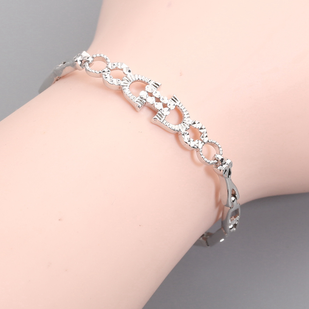 Inspired Fadeless No allergy Silver Bracelet BY0053