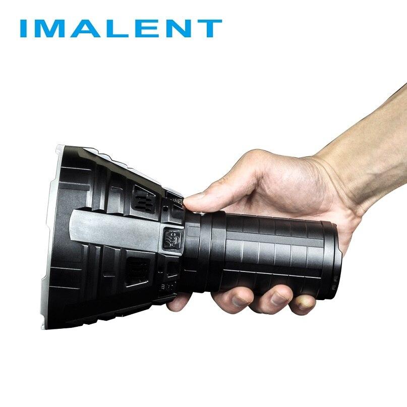 IMALENT R90C LED el feneri CREE XHP35 HI LED 20000 lümen 1679 metre meşale flaş ışığı açık için pil ile arama
