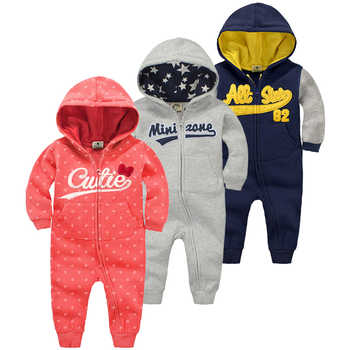 2019 new baby autumn warm clothes 6M-24M boys tracksuit newborn baby long sleeved rompers girls hooded cotton winter jumpsuit - DISCOUNT ITEM  15% OFF All Category