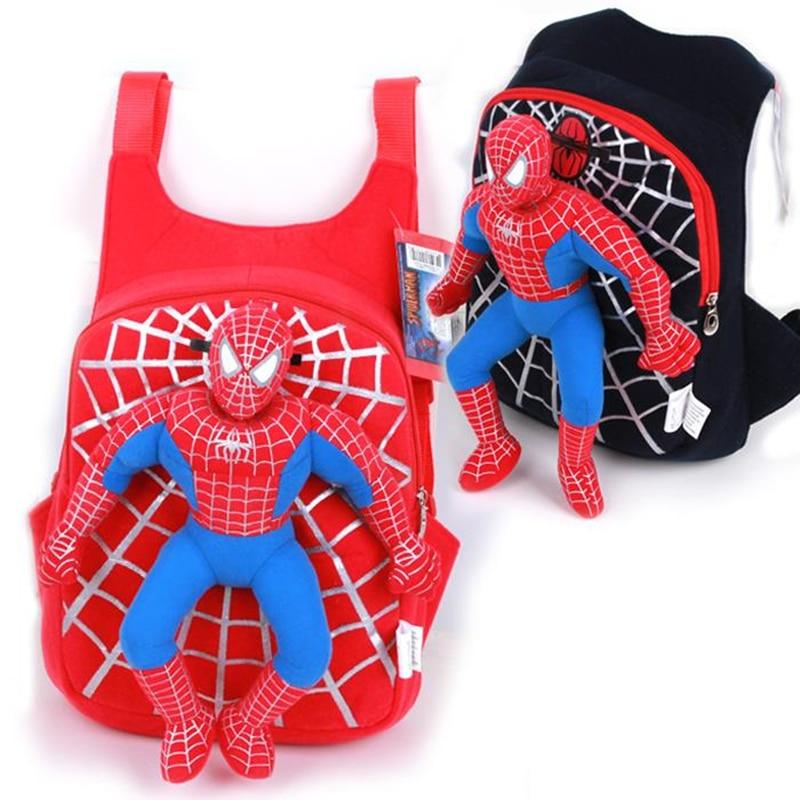 Spiderman Kids Bag Children SchoolBag Cartoon Plush Backpacks Toddler Kindergarten Baby Backpack School Bags For Girls Mochila
