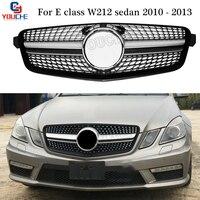 W212 бриллиантами гриль переднего бампера Решетка для Mercedes W212 E Class Sedan 2010 2013 E200 E250 E300 E350 E400 предварительно подтяжку лица