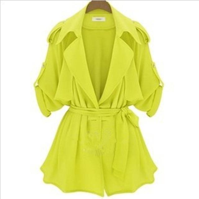 Большой размер 2015 новинка горячая распродажа весна и осень куртка женщин европейский популярный стиль свободного покроя дамы ветровка пальто A173