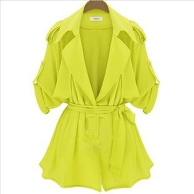 Plus Size 2015 New Fashion Hot Sale Spring and Autumn Jacket Women European Popular Style Casual Ladies Windbreaker Coat A173