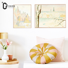 Life in Sweden Impressionistic Home decor vintage Wall pictures for living room Elegant Canvas art No Frame