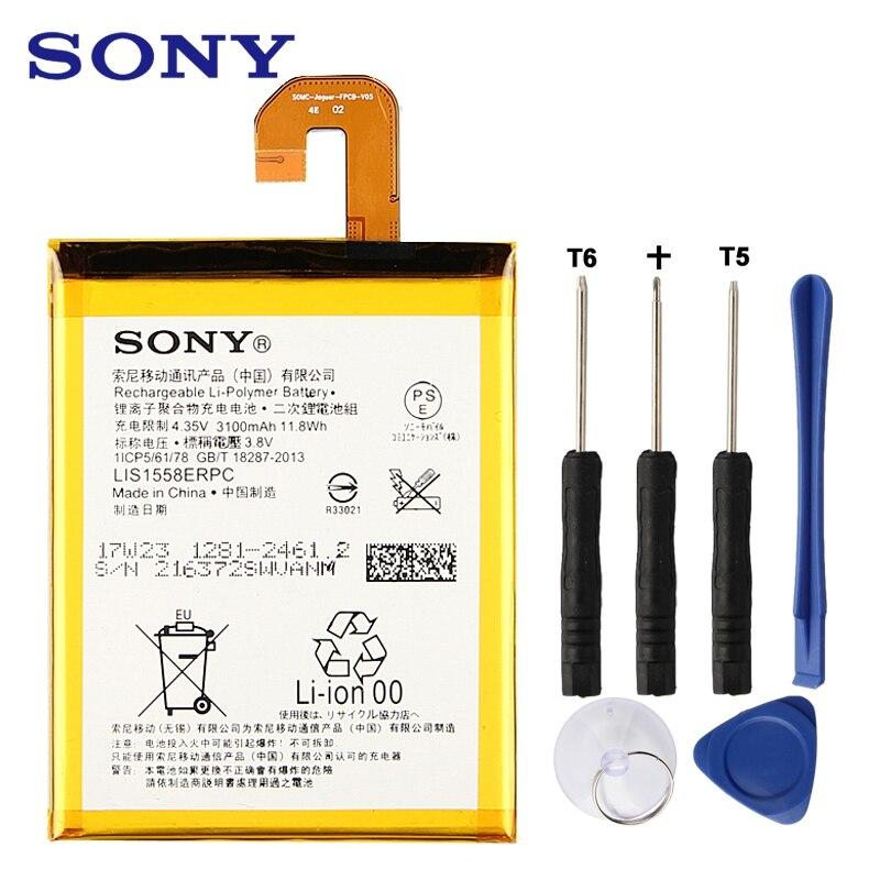 Batería Original de repuesto Sony LIS1558ERPC para SONY Xperia Z3 L55T L55U D6653 D6633 D6603 batería de teléfono auténtica 3100 Mah