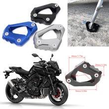 Motocykl Kickstand stóp boczne stojak rozszerzenie Pad wsparcie płyta dla YAMAHA MT-10 MT10 /FZ-10 FZ10 2016 2017 2018 aluminium