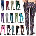 2016 Size XXXL 4XL New Fashion Christmas Elegant Trousers Digital Print Women Mermaid Fish Scale Leggings High Quality