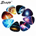 SOACH 10pcs 0.71mm Universe Planet two side picks acoustic guitar paddle DIY Guitar Accessories stratocaster pick