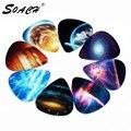SOACH 10pcs 0.71mm Universe Planet two side picks acoustic guitar paddle DIY Guitar Accessories stratocaster pick