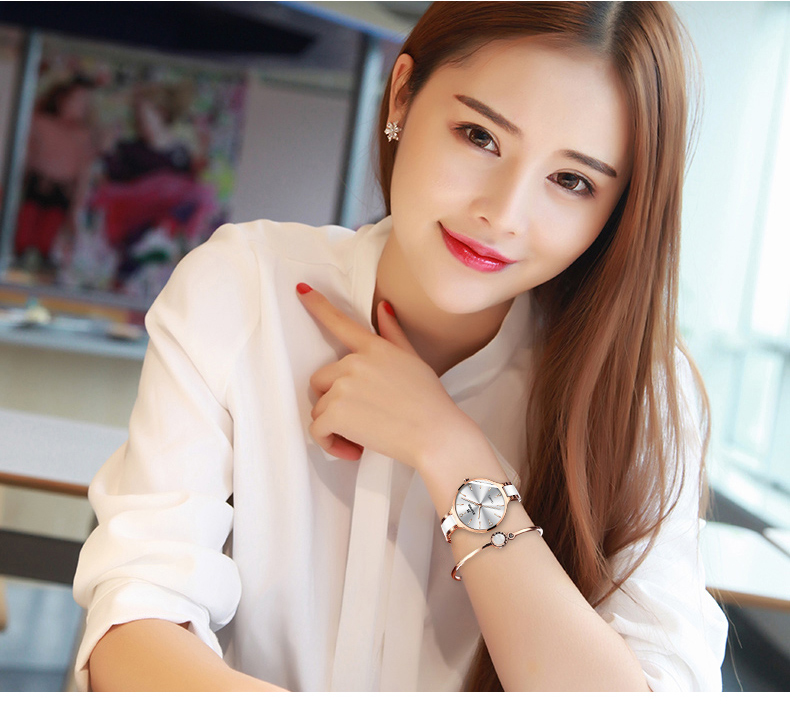 BINGER Mode Luxus Damen Uhr Stahl und keramik band Quarz Frauen Uhren Top Marke Wasserdichte Uhr Relogio Feminino - 6