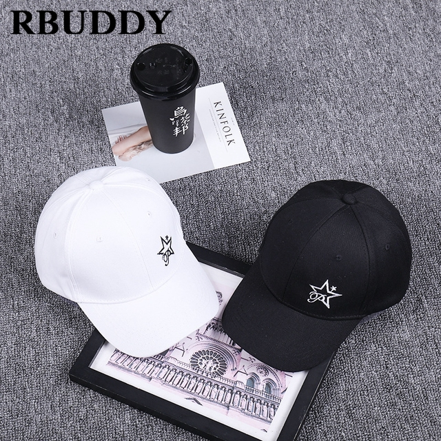 RBUDDY Classic Baseball Caps Start Embroidery Hip Pop Youth Streetwear  Snapback Trucker Dad Hat for Women Men Gift Metallica Hat 5ad29cefacc7