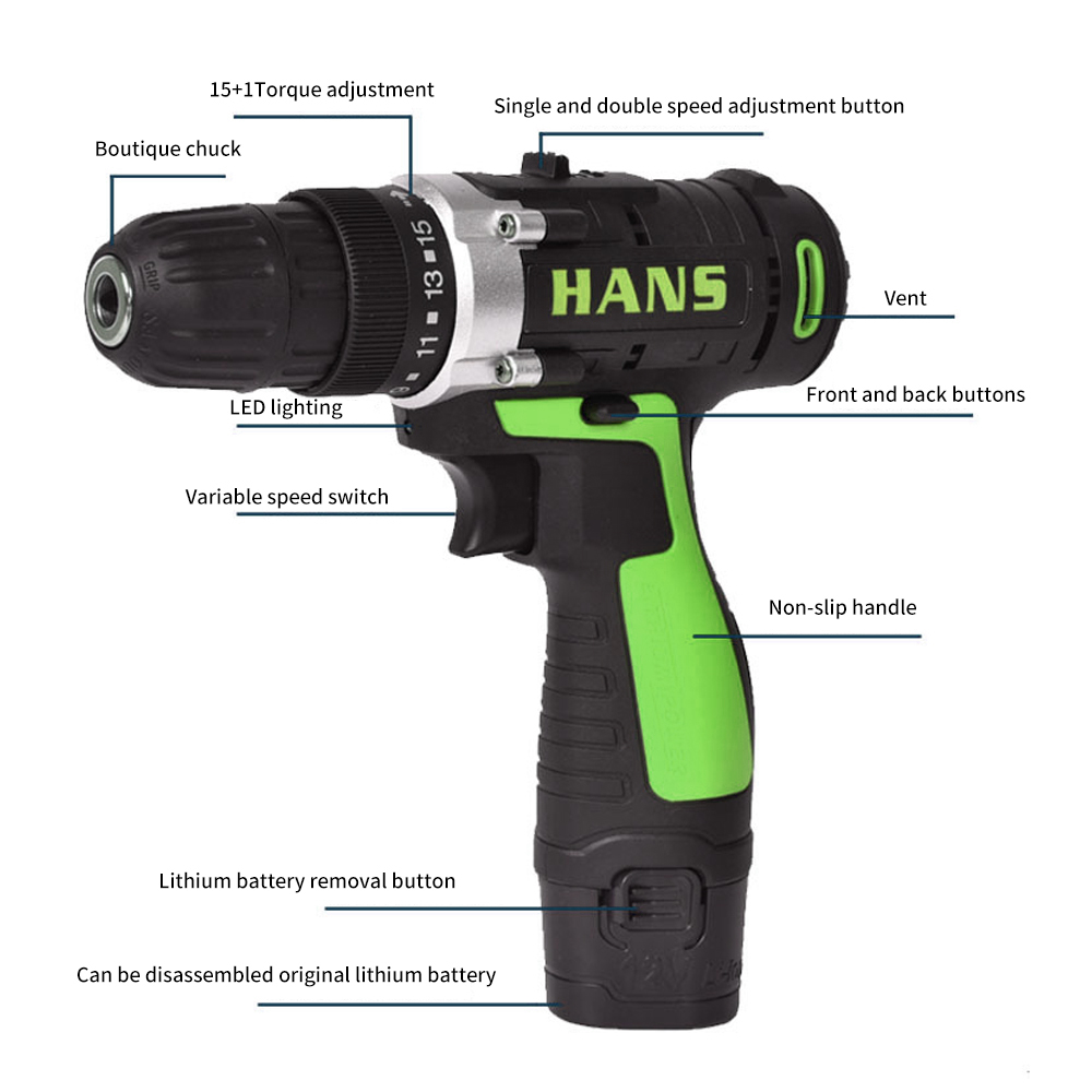 Ed03 16 8v 18v Cordless Electric Hand Drill Multifunction Battery Driver Tools Mini Hammer Impact Drills Electrical In From